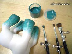 Aikarin.com Custom Pony Tutorial: How to paint a gradient hoof fade