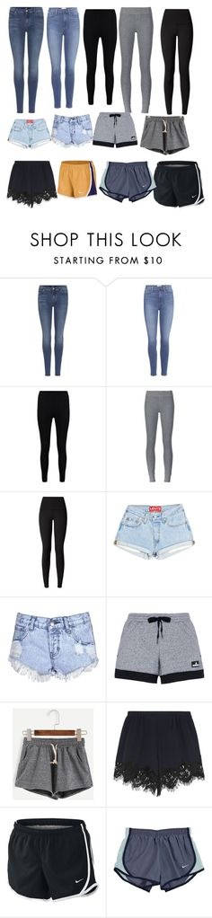 """Shopping pants and shorts"" by myapesenti-1 ❤ liked on Polyvore featuring 7 For All Mankind, Paige Denim, Boohoo, ATM by Anthony Thomas Melillo, lululemon, Glamorous, adidas, Chloé and NIKE"