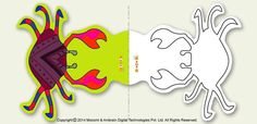 #Crab – Download, cut & print for free, this cool #pagegrabber which will help you in holding pages of your book. More such page grabber article for #kids, visit: http://mocomi.com/fun/arts-crafts/printables/page-grabber/