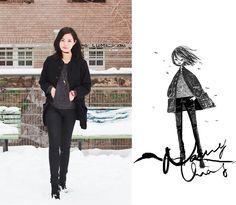 Nancy Zhang - Issey Miyake Jacket, Cos Pants, Topshop Heels - A chilling Holiday.