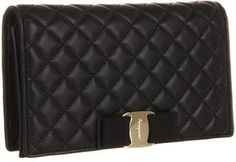 http://www.shopstyle.com: Salvatore Ferragamo - Quilted Vara Mini Wallet Bag (Nero) - Bags and Luggage