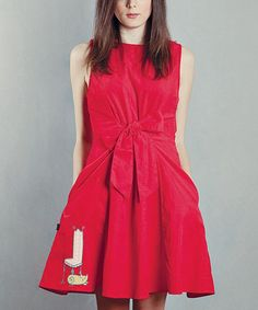 Take a look at this Red Lemobilier Jackie Dress by Titis Clothing on #zulily today!