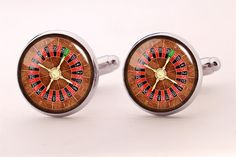 Roulette Wheel Cufflinks,Photo Cufflinks,Groomsmen Wedding Cufflinks