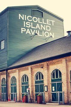 Nicollet Island Pavilion! Photo by Ashley B. #minneapolisweddingphotographers #nicolletislandpavilion