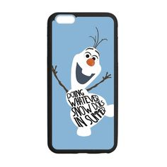 CaseCoco:iPhone 6 Plus Frozen Olaf Summer Quote Case ID:20171-123999