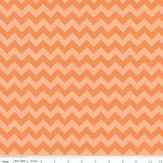 Riley Blake Designs - Chevron - Small Chevron Tone on Tone in Orange