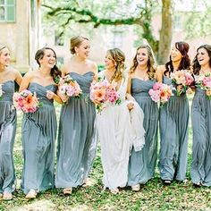 #regram from @dessygroup • a gorgeous bridal party strutting in their Dessy dresses. Dress style #D678 in color Icelandic. Photo via @southernweddings #dessygroup