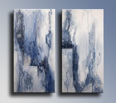 Original Abstract Painting on Canvas Blue Painting by itarts, $199.00