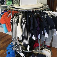 Tiny Two Tier Circular Hangrail Rack – Fixtures Close Up Store Interiors, Wardrobe Rack, I Shop, Display, Shopping, Clothes, Ideas, Outfit, Clothing