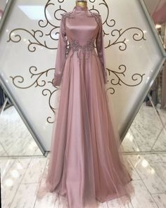 Dress Long Formal Open Backs - Dress Muslimah Wedding Dress, Muslim Wedding Dresses, Evening Dresses For Weddings, Long Prom Gowns, Dress Wedding, Hijab Evening Dress, Hijab Dress Party, Hijab Gown, Elegant Dresses