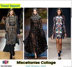 Miscellanies Collage #Fashion Trend for Fall Winter 2014 #Fall2014 #Fall2014Trends #FashionTrends2014