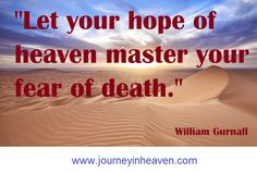 Quotes about heaven - William Gurnall Heaven Quotes, Death, Let It Be