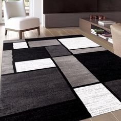 Shop a great selection of Rugshop Contemporary Modern Boxes Area Rug, x Gray. Find new offer and Similar products for Rugshop Contemporary Modern Boxes Area Rug, x Gray. Modern Area Rugs, Contemporary Area Rugs, Modern Contemporary, Living Room Carpet, Rugs In Living Room, Cool Rugs, White Area Rug, White Rugs, Black Rugs