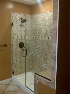 This is a simple but elegant shower glass doors single 13 tiles glass shower doors kansas city framed and frameless glass binswanger planetlyrics Gallery