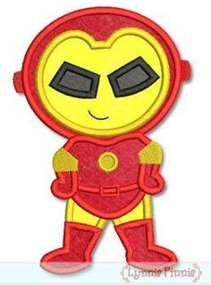 SUPERHERO 4  Robot Boy Applique 4x4 5x7 6x10 SVG   by LynniePinnie, $2.99