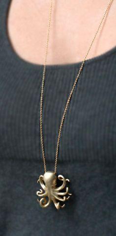 Michelle Change Gold Octopus Necklace