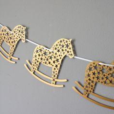 Laser Cut Rocking Horse Bunting