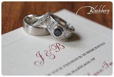 Lake George Club Wedding Photo Image by Susan Blackburn Copyright Blackburn Portrait Design susanblackburn.biz #lakegeorgephotographer #weddingphotos #rainydayweddingphotos Platinum, diamond and sapphire wedding rings Wedding Invitation