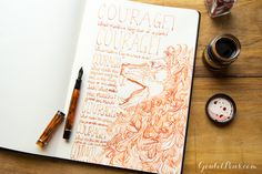 Goulet Pens Blog: Monday Matchup #44: Conklin Duragraph Amber in Stub with Private Reserve Shoreline Gold