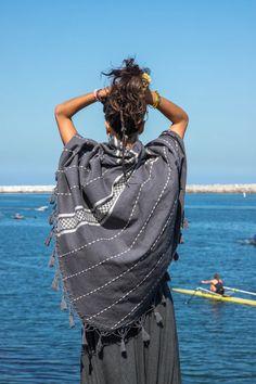 El Mar   Handwoven Cape   Her – glorka Nomad Fashion, How Beautiful, Printed Cotton, Hand Weaving, Super Cute, Shawl, Cape, Fabrics, Houses