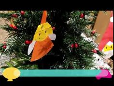 Angel and Santa clause christmas tree hanging - YouTube