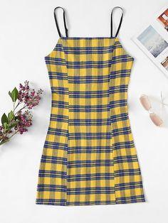 Plaid Cami Dress - Plaid Cami Dress Source by cuteshopp - Teen Fashion Outfits, Trendy Outfits, Summer Outfits, Cute Outfits, Plaid Dress, Shirt Dress, Cute Dresses, Casual Dresses, Dresses Dresses