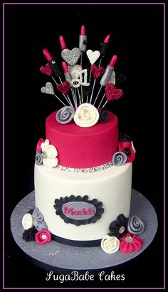 Maddi's 21st by Kathy (SugaBabe Cakes), via Flickr