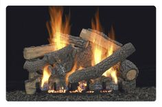 ponderosa ventless gas fireplace logs