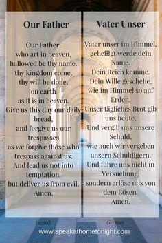 Our Father in German   Vater Unser auf Englisch   How to Pray in German   German Prayers