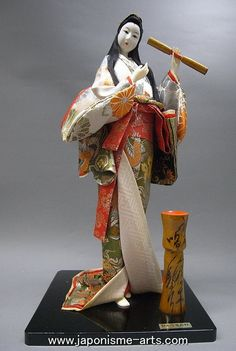 Big Beautiful Japanese Vintage Geisha Nihon Ningyo Doll My mother -in-law gave to us from New Westminster Salvation Army