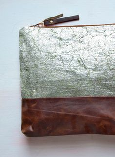 .. silver leaf on leather ..  want