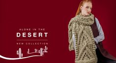 Wool collection :   Palm Scarf Wool knitting kit  #Knitting   #HandcraftedGifts