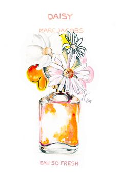 Illustrating Marc Jacobs Fragrance Collection.