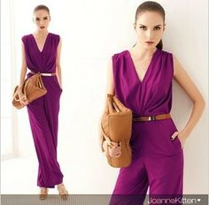 Aliexpress.com : Buy Office Lady charming deep V neck jumpsuit For Women Long Pants Boot cut shape High quality Street Style Free Shipping S8811 from Reliable Lady purple jumpsuits suppliers on CTS  FASHION MALL $19.50