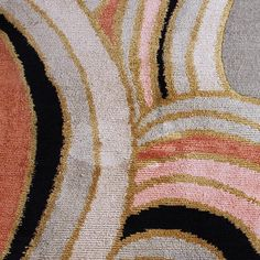 Color Inspo for Friday: DREAM in a Halloweeny mood, close-up, with raised silk pile and Tibetan wool #emmagardnerdesign