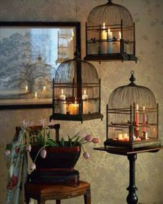 Birdcage with Candles