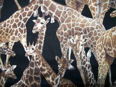 By the Yard Giraffe Fabric Living Wonders by by FabricGiantUSA