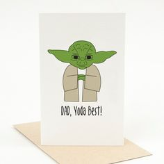 Fathers day card funny funny fathers day card birthday card dad items similar to printable fathers day card dad yoda best pun card funny fathers day card pun fathers day card punny fathers day card cute fathers day bookmarktalkfo Images