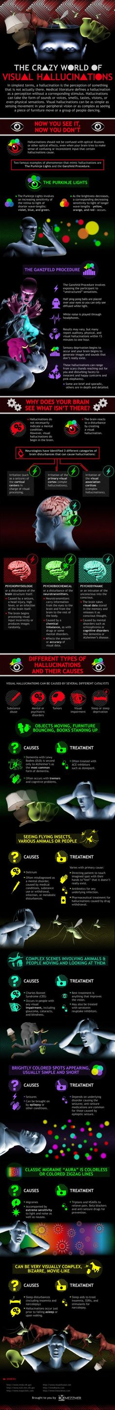 The crazy world of visual hallucinations (Infographic) | ScienceDump