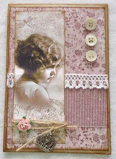 Kort og andet godt: Tilbage på Card and Scrap Cool Cards, Diy Cards, Heritage Scrapbook Pages, Christmas Card Crafts, Beautiful Handmade Cards, Vintage Crafts, Creative Cards, Artist Trading Cards, Vintage Postcards