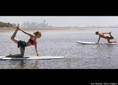Paddle Board Yoga :)