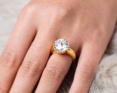 Elegant Affordable Custom Moissanite by SolitaireRingJeweler Wedding Bands, Wedding Ring, Moissanite Rings, Antique Rings, Solitaire Ring, Yellow Gold Rings, Gifts For Her, Engagement Rings, Elegant