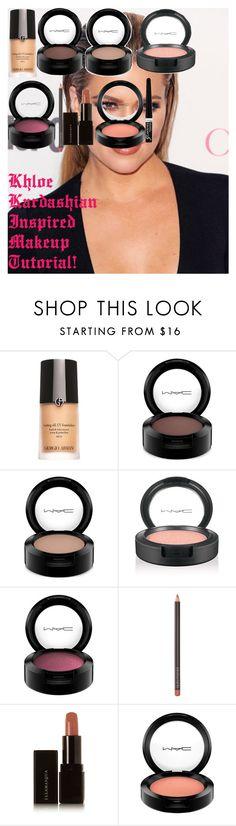 """Khloe Kardashian Inspired Makeup Tutorial!"" by oroartye-1 on Polyvore featuring beauty, Armani Beauty, MAC Cosmetics, Laura Mercier, Illamasqua and Rimmel"
