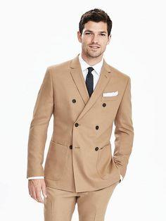 Slim Camel Wool Double Breasted Suit Jacket Camel Coat Outfit, Camel  Blazer, Suit Jacket 012b211cf09