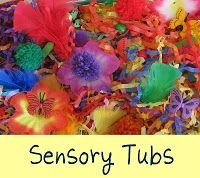AMAZING sensory tubs for each month.  TRULY AMAZING.  Scroll down to see them all.