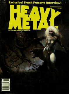 Heavy Metal - Vol. 14 No. 5 November 1990 - Frazetta