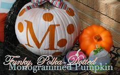 52 Mantels: Monogrammed Pumpkin