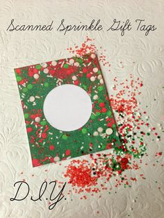 DIY: Scanned Sprinkle Gift Tags