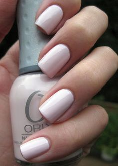 Orly:Kiss the Bride The perfect color for a bride-to-be! And it goes perfectly with the on-trend neutral palettes!
