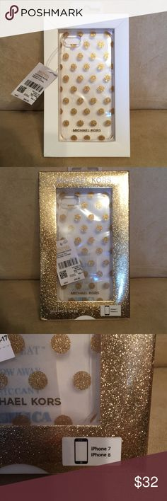 ♥️❤️Micheal Kors IPhone Case ♥️❤️ ♥️❤️Gold Blinged Out Micheal Kors IPhone 7 or 8 case.  Quality construction that comes from Micheal Kors.  This case is brand new with tag still attached ♥️❤️ Micheal Kors Accessories Phone Cases